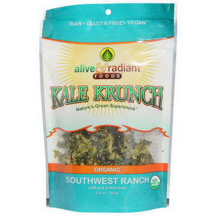 Alive & Radiant, Organic Kale Krunch, Southwest Ranch, 2.2oz (63g)