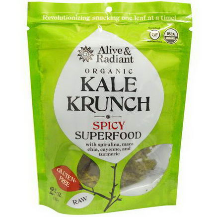 Alive & Radiant, Organic Kale Krunch, Spicy Superfood, 2.2oz (63g)