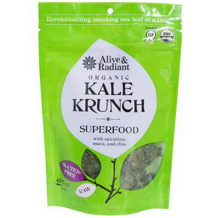 Alive & Radiant, Organic Kale Krunch, Superfood, 2.2oz (63g)