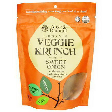 Alive & Radiant, Organic Veggie Krunch, Sweet Onion, 2oz (57g)
