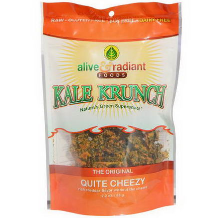 Alive & Radiant, The Original, Kale Krunch, Quite Cheezy, 2.2oz (63g)