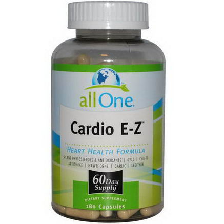 All One, Nutritech, Cardio E-Z, Heart Health Formula, 180 Capsules