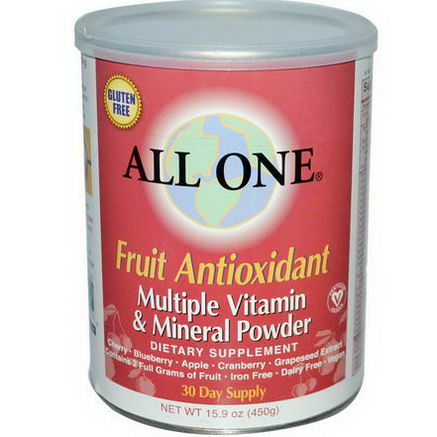 All One, Nutritech, Fruit Antioxidant, Multiple Vitamin & Mineral Powder, 15.9oz (450g)