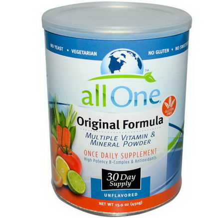 All One, Nutritech, Original Formula, Multiple Vitamin & Mineral Powder, 15.9oz (450g)