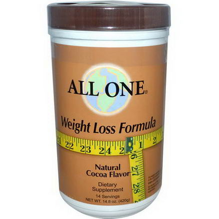 All One, Nutritech, Weight Loss Formula, Natural Cocoa Flavor, 14.8oz (420g)