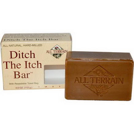 All Terrain, Ditch The Itch Bar Soap, 4.0oz (112g)