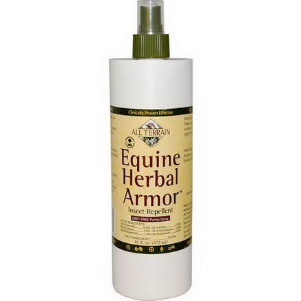 All Terrain, Equine Herbal Armor, Insect Repellent, 16 fl oz (472 ml)