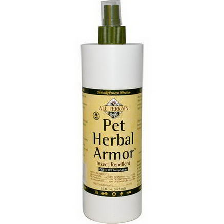 All Terrain, Pet Herbal Armor Insect Repellent, 16 fl oz (472 ml)