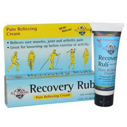 All Terrain, Recovery Rub, Pain Relieving Cream, 1.0 fl oz (30 ml)