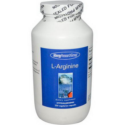 Allergy Research Group, L-Arginine, 250 Veggie Caps