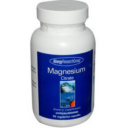 Allergy Research Group, Magnesium Citrate, 90 Veggie Caps