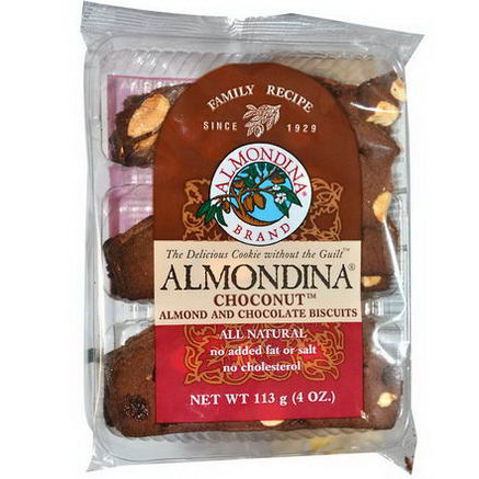 Almondina, Choconut, Almond and Chocolate Biscuits, 4oz (113g)