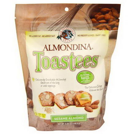 Almondina, Toastees, Sesame Almond, 5.25oz (148.9g)