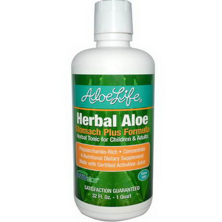 Aloe Life International, Inc, Herbal Aloe, Stomach Plus Formula, 32 fl oz (1 Quart)