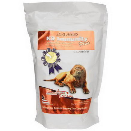 Aloha Medicinals Inc. K9 Immunity Plus, for Dogs, Liver & Fish Flavored Chews, 90 Chews