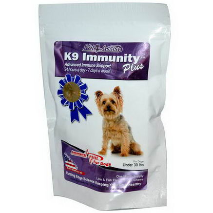 Aloha Medicinals Inc. K9 Immunity Plus, for Dogs, Liver & Fish Flavored Soft Chews, 30 Wafers