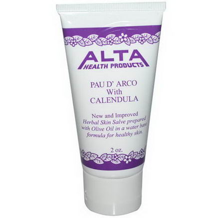 Alta Health, Herbal Skin Salve, Pau D'Arco with Calendula, 2oz
