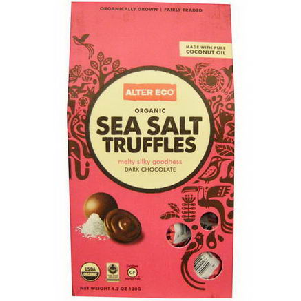 Alter Eco, Organic Sea Salt Truffles, Dark Chocolate, 4.2oz (120g)