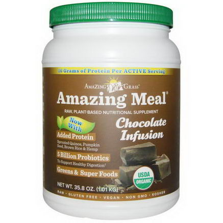 Amazing Grass, Amazing Meal, Chocolate Infusion, 35.8oz (1.01 kg)