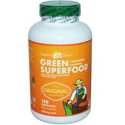 Amazing Grass, Green SuperFood, 650mg, 150 Capsules