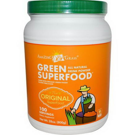 Amazing Grass, Green SuperFood, All Natural Drink Powder, 28oz (800g)