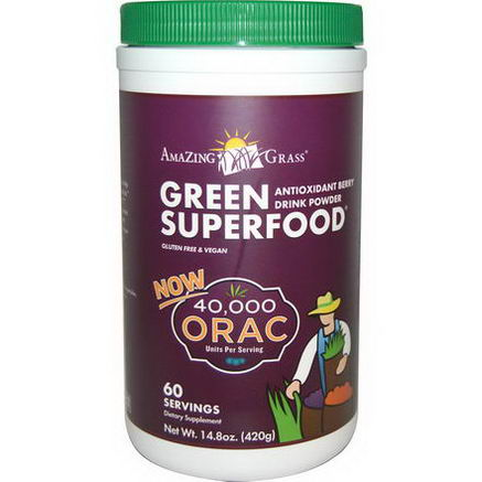 Amazing Grass, Green Superfood, Antioxidant Berry Drink Powder, 14.8oz (420g)