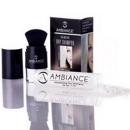 Ambiance Cosmetics Inc, Volumizing Dry Shampoo, Gray, Combo Pack Brush & Refill, 1.49oz (42.3g)