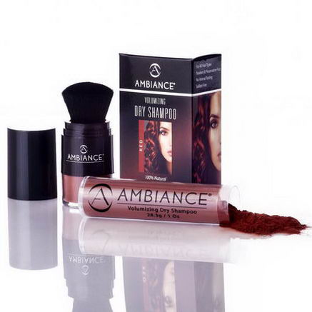Ambiance Cosmetics Inc, Volumizing Dry Shampoo, Red, Combo Pack Brush & Refill, 1.49oz (42.3g)