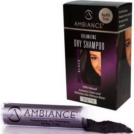 Ambiance Cosmetics Inc, Volumizing Dry Shampoo Refill, Black, 1oz (28.3g)
