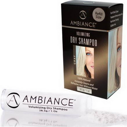 Ambiance Cosmetics Inc, Volumizing Dry Shampoo Refill, Gray, 1oz (28.3g)