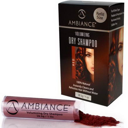 Ambiance Cosmetics Inc, Volumizing Dry Shampoo Refill, Red, 1oz (28.3g)