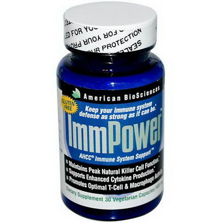American Biosciences, ImmPower, AHCC Immune System Support, 500mg, 30 Veggie Caps