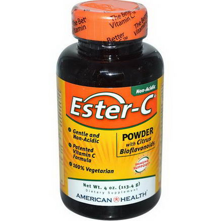 American Health, Ester-C, Powder with Citrus Bioflavonoids, 4oz (113.4g)