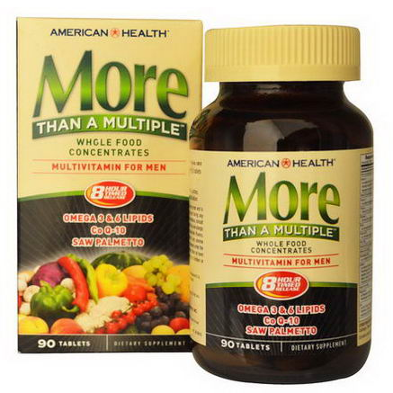 American Health, More Than A Multiple, Multivitamin for Men, 90 Tablets