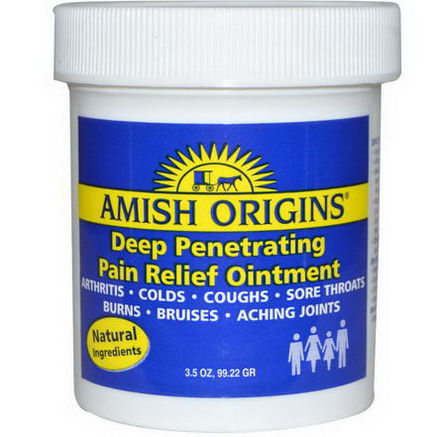 Amish Origins, Deep Penetrating Pain Relief Ointment, 3.5oz (99.22g)