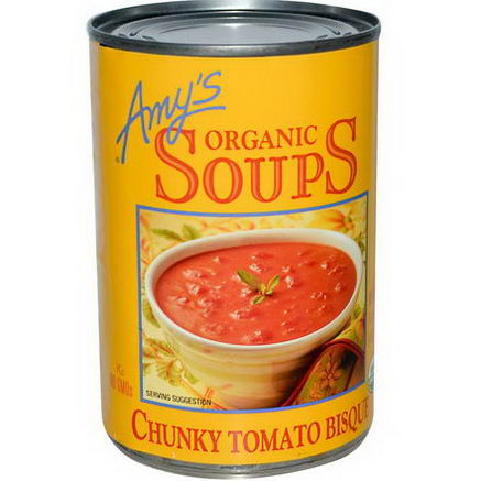 Amy's, Organic Soups, Chunky Tomato Bisque, 14.5oz (411g)