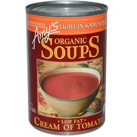 Amy's, Organic Soups, Low Fat Cream of Tomato, Light in Sodium, 14.5oz (411g)
