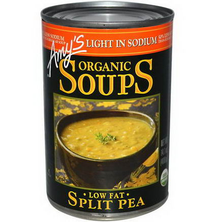 Amy's, Organic Soups, Split Pea, Low Fat, Light in Sodium, 14.1oz (400g)