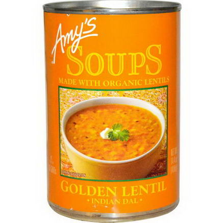 Amy's, Soups, Golden Lentil, Indian Dal, 14.4oz (408g)