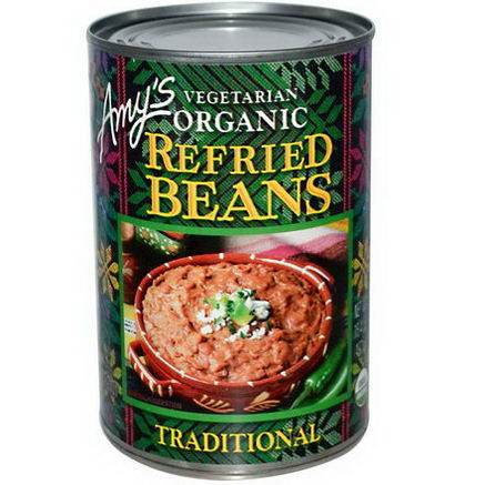 Amy's, Vegetarian Organic Refried Beans, Traditional, 15.4oz (437g)