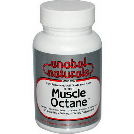 Anabol Naturals, Muscle Octane, 500mg, 60 Capsules