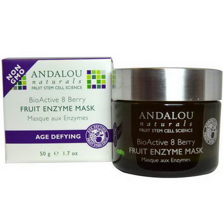 Andalou Naturals, Fruit Enzyme Mask, BioActive 8 Berry, Age Defying, 1.7oz (50g)