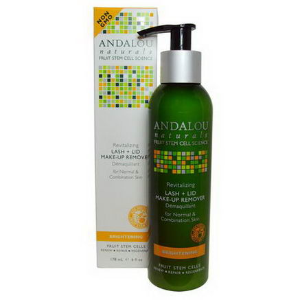 Andalou Naturals, Lash + Lid Make-Up Remover, Brightening, 6 fl oz (178 ml)