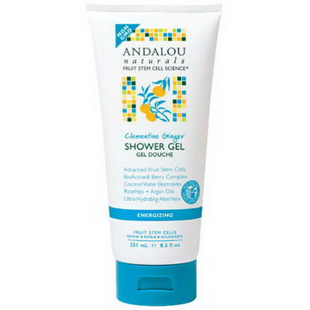 Andalou Naturals, Shower Gel, Clementine Ginger, Energyzing, 8.5 fl oz (251 ml)