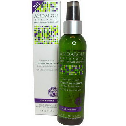Andalou Naturals, Toning Refresher, Blossom + Leaf, Age Defying, 6 fl oz (178 ml)