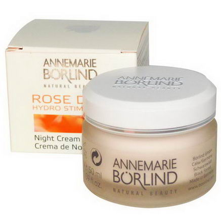 AnneMarie Borlind, Hydro Stimulant Night Cream, Rose Dew, 1.69 fl oz (50 ml)
