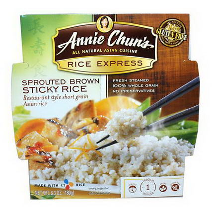 Annie Chun's, Rice Express, Sprouted Brown Sticky Rice, 6.3oz (180g)