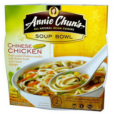 Annie Chun's, Soup Bowl, Chinese Chicken, Mild, 5.7oz (163g)
