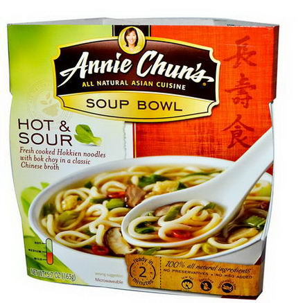 Annie Chun's, Soup Bowl, Hot & Sour, Medium, 5.7oz (163g)