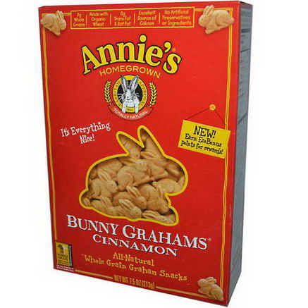 Annie's Homegrown, Bunny Grahams, Cinnamon, 7.5oz (213g)